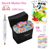 TOUCHNEW 30 40 60 80 Colors Art Marker Set Alcohol Based Copic Sketch Marker Pen For