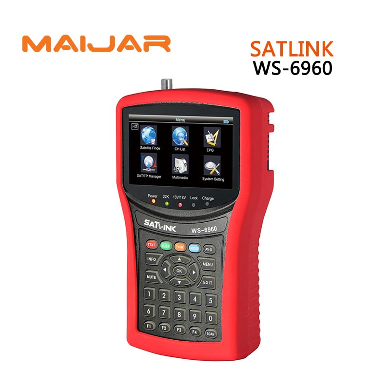 original Digital satellite finder ws6960 meter Digital terrestrial signal satlink ws-6960 4.3 Inch HD TFT LCD Screen finder болт креп комп полная резьба цинк din933 16х60 прочность 8 8 25кг 219 бп1660