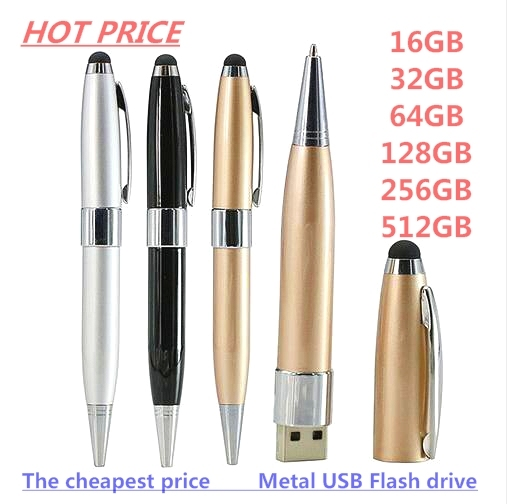 HOT USB Pen Drive For Android Phone OTG USB Flash Drive Card Memory Metal Pen Pencil USB Model 16/32/64/128/256/512GB Pen Drive