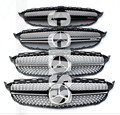 AMG Style Mercedes W204 Diamonds Radiator Grill Front Sporty C63 Grill for Benz 2007-2014 C Class C180 C200 C260 C300