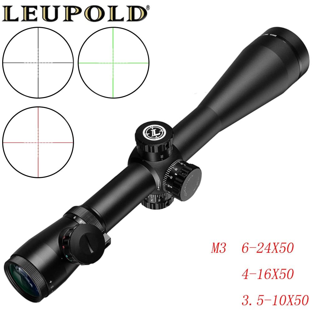 LEUPOLD M3  Long Range Riflescope 6-24X50/4-16X50/3.5-10X50 Optical Hunting Rifle Scope For Sniper Airsoft Airgun