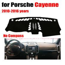 Rkac приборной панели автомобиля Обложка Коврик для Porsche Cayenne без Компасы 2010-2016 левым dashmat Pad тире охватывает авто наклейки