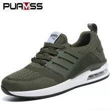702a5c388 2019 новые мужские кроссовки для мужчин резиновые черные кроссовки  армейские зеленые дышащие сетчатые спортивные туфли мужские