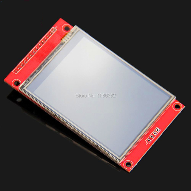 "WS16  2.8"" SPI Serial Port 240x320 ILI9341 TFT LCD Display Screen Touch Panel Backlight Module  +PCB Adapter Power IC SD Socket"