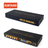 1080P HDMI TO HDMI VGA SPDIF 5.1CH RCA Digital multi channel Audio Decoders HDMI Digital Audio Decoder Hdmi+vga+spdif Converter