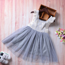 3-7 Years Summer Girl Dress Princess Wedding Party Little Girl Ceremonies Flower Lace Tutu Layered Dress Backless Clothes стоимость