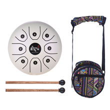 5.5 Inch C Key Tongue Drum Mini 8-Tone Steel Hand Pan Drum Percussion Instrument with Drum Mallets Carry Bag(China)