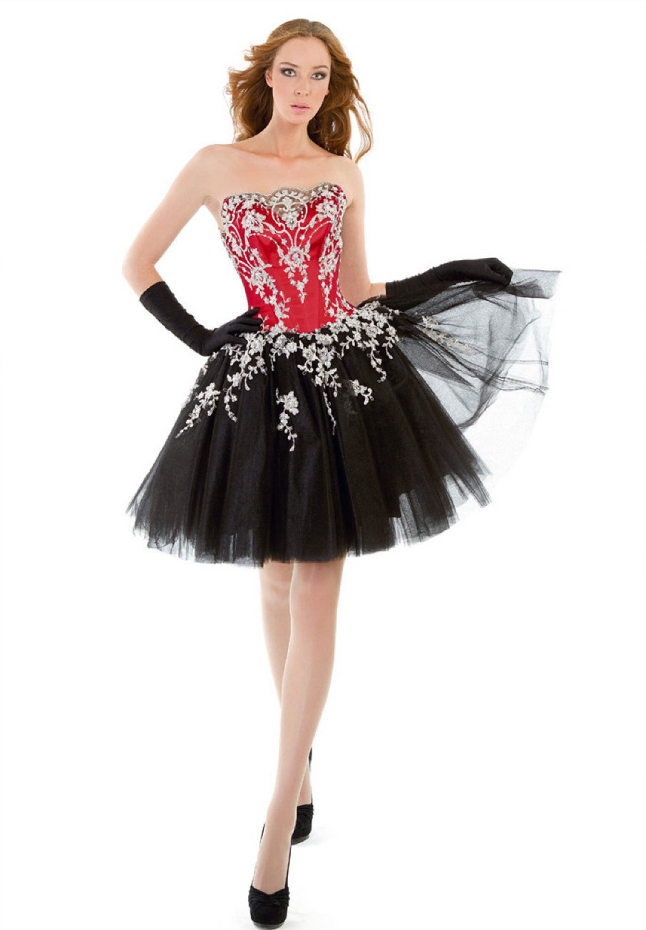 Black Strapless Homecoming Dress Promotion-Shop for Promotional ...
