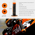 Left 22mm & Right 24mm Rubber Motorcycle Handle Bar Motorbikes Hand Grips For ktm exc duke 350 duke 200 690 With KTM LOGO