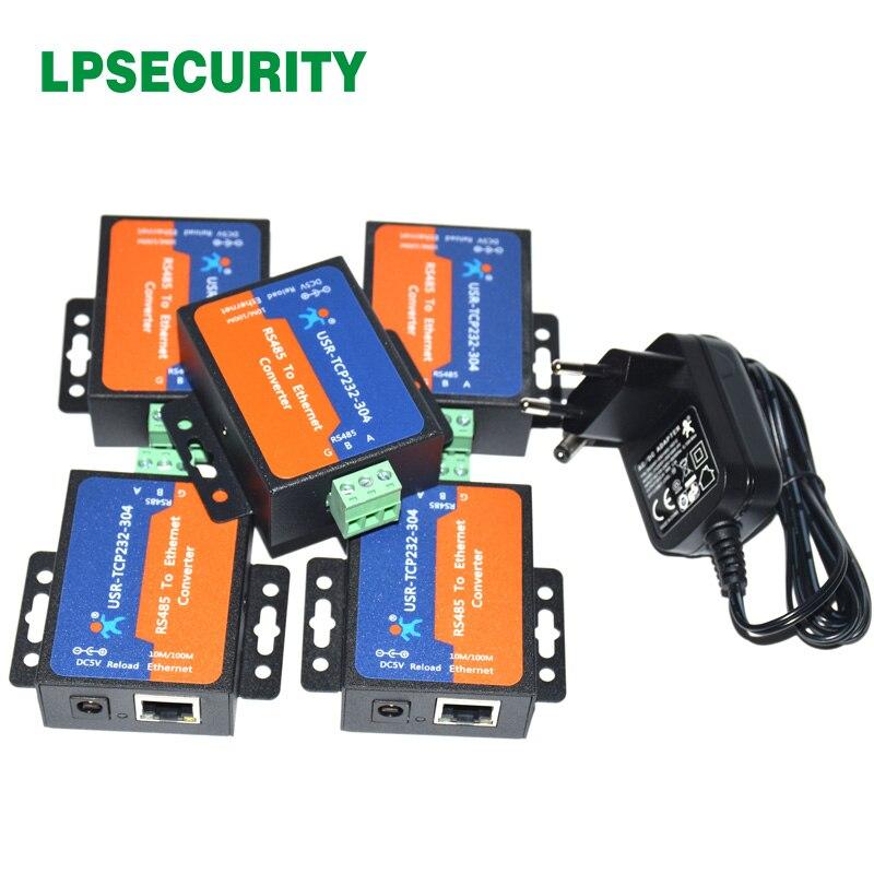 5 pièces contrôle d'automatisation série RS485 à tcp/ip Module de convertisseur de serveur Ethernet avec la page web intégrée DHCP/DNS pris en charge