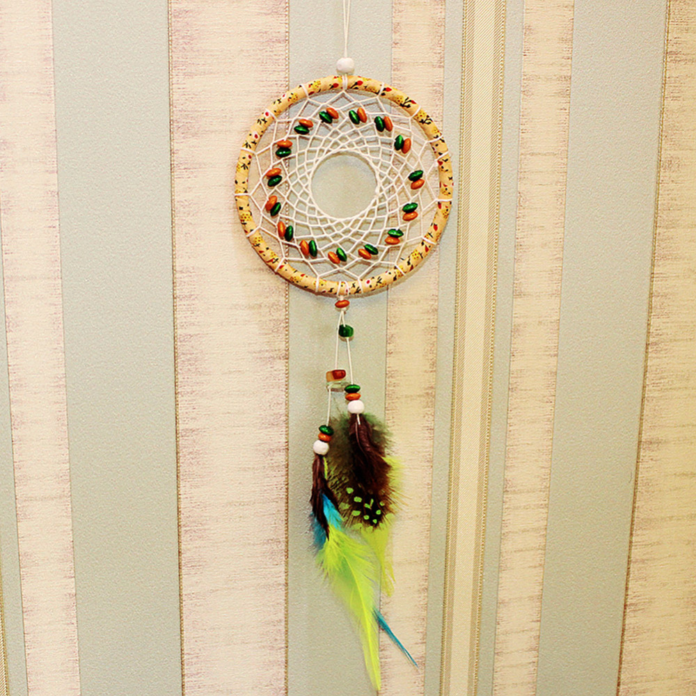 India Style Handmade Dream Catcher Net With feathers Car Window Wall ...