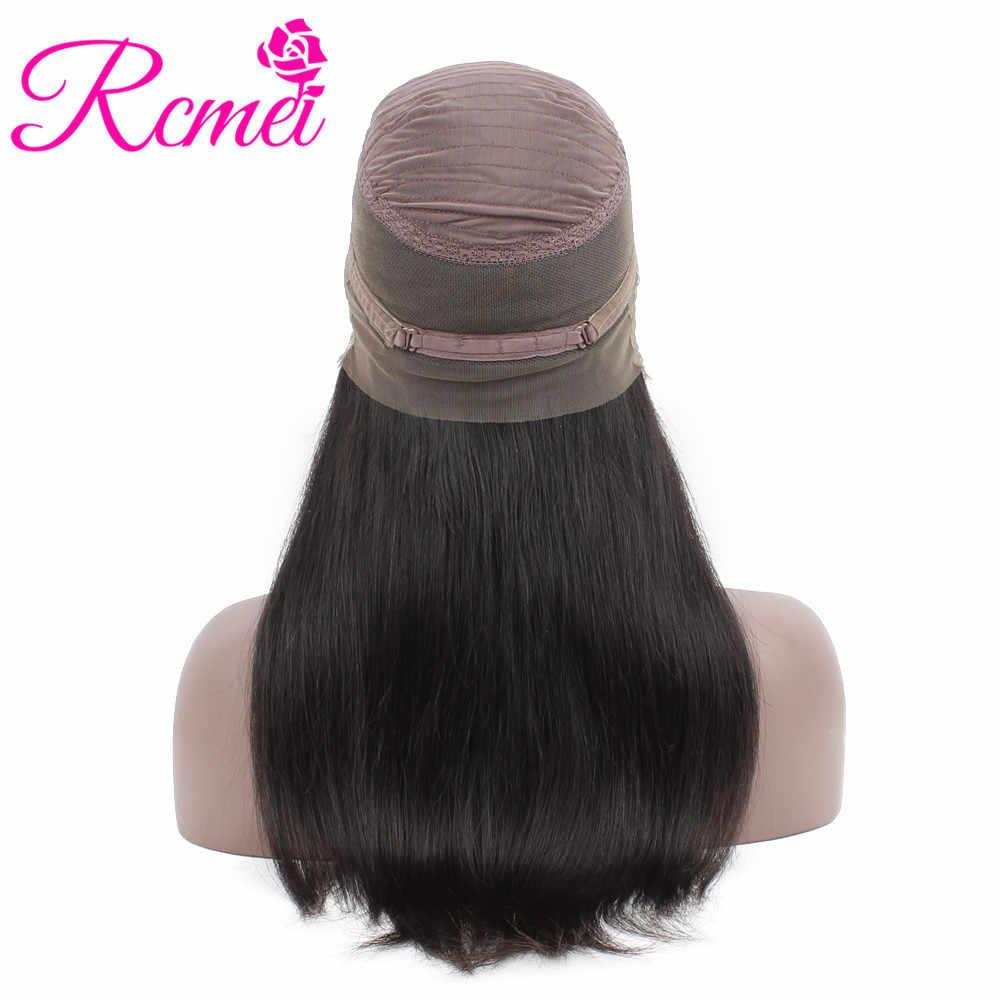 RCMEI волосы 360 кружевных фронтальных париков малазийские прямые волосы парик 150% плотность remy волосы 10-24 дюймов парик Детские волосы для черной женщины