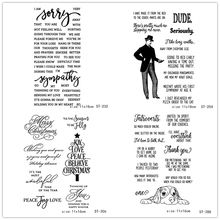 AZSG Sincere Thanks Blessings Serious Dude Clear Stamps For DIY Scrapbooking/Card Making/Album Decorative Silicone Stamp Craft