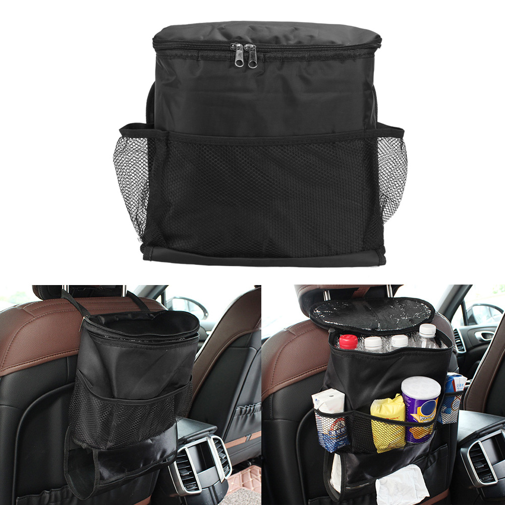 car auto seat back bag multi pocket storage organizer holder bag thermal insulated food storage. Black Bedroom Furniture Sets. Home Design Ideas