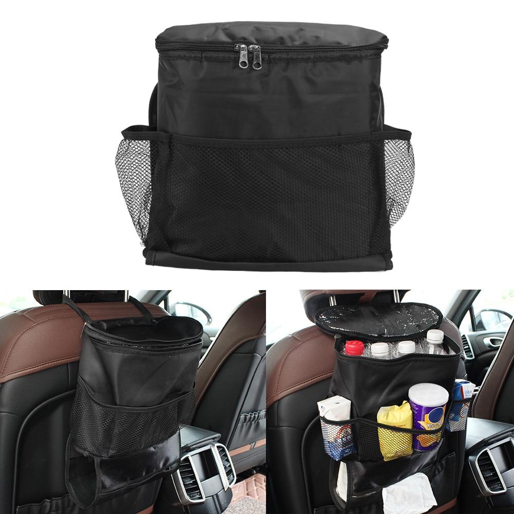 Auto Auto Seat Atpakaļ Bag Multi-Pocket Storage Organizators Turētājs Soma Termiskā Izolēta Pārtikas Uzglabāšana Automašīnas nogādāšana kārtībā