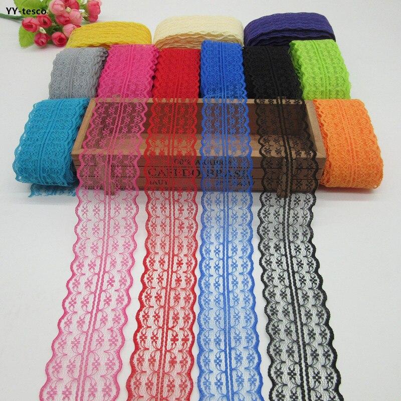Красивая 10 метров кружева лента 45 мм широкий кружевной отделкой ткани DIY вышивкой белая кружевная отделка для швейной фурнитуры украшения
