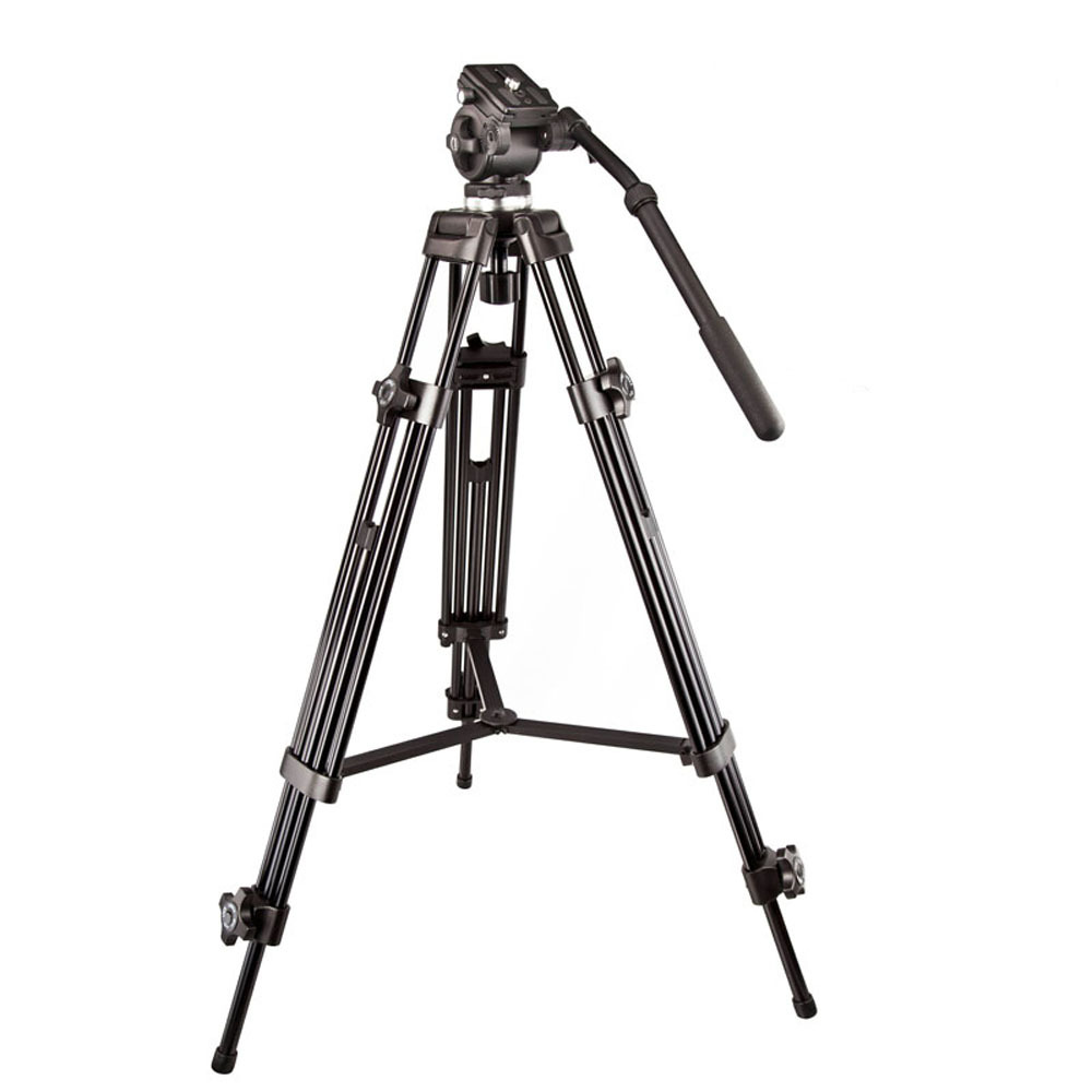 Original Weifeng WF717 Professional Heavy Duty Video Camcorder Tripod DSLR Camera Tripod with Fluid Head for Canon Nikon by DHL professional dv camera crane jib 3m 6m 19 ft square for video camera filming with 2 axis motorized head