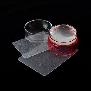 Image 4 - مجموعة واحدة من مكشطة طلاء الأظافر الجلي الشفاف ، مجموعة قوالب تلميع من السيليكون الشفاف ، قوالب ختم الأظافر ، أدوات طلاء الأظافر LA621