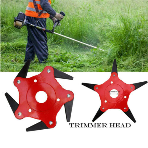 Outdoor Trimmer Head 5 Steel Blades Razors 65Mn Lawn Mower Grass Weed Cutter UK