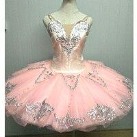 Высокое качество на заказ розовые балетные пачки, Сахарная Слива Фея классические балетные пачки для девочек персиковый взрослый костюм ба