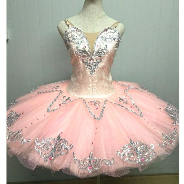 Hoge Kwaliteit Custom Made Roze Ballet Tutu S, Suiker Pruim Fee Klassieke Ballet Tutu Meisjes Perzik Volwassen Kostuum Ballet Jurk