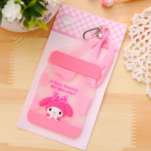 NEW Little Rabbit MILK Bottle Cards Case - 12*7.2CM Silicone BUS , ID Cards Holder Case Pouch BAG Holder Case Cover(China)