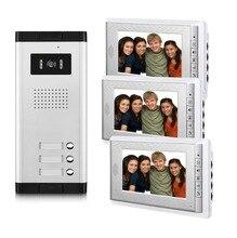 2/3/4 unità appartamenti di video citofono 7 Inch video telefono del portello Kit Video Campanello per per 2 4 per la casa Appartamento
