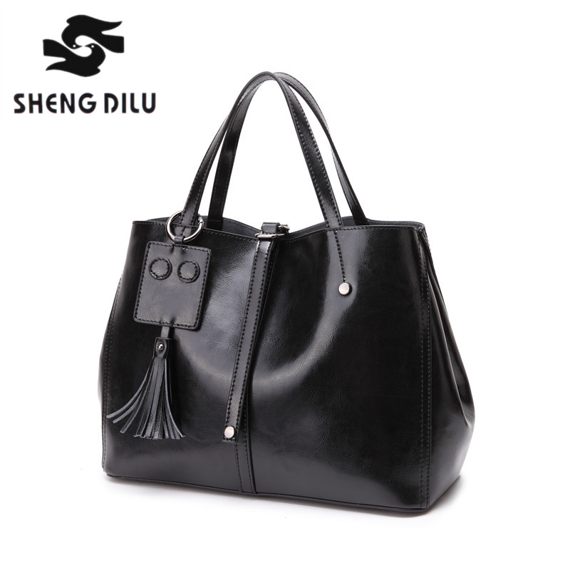 ShengDiLu Shoulder bag,handbag,genuine leather,compound cowhide,crocodile print.classic fashion,retro,high quality,luxury luxury genuine leather bag fashion brand designer women handbag cowhide leather shoulder composite bag casual totes