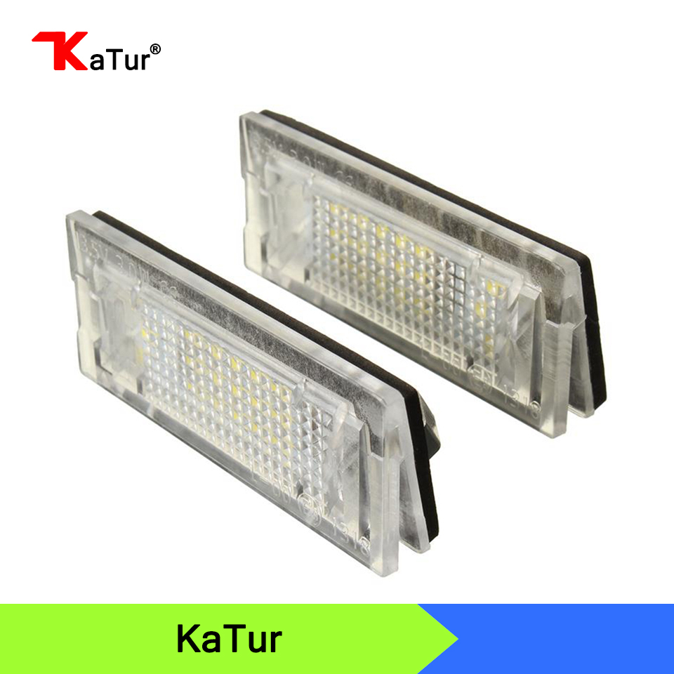 1 Pair White Car LED Number License Plate Lights Lamp Fit For BMW E39 TOURING 5Door 18 SMD 3w LED Car Bulb 2x e marked obc error free 24 led white license number plate light lamp for bmw e81 e82 e90 e91 e92 e93 e60 e61 e39 x1 e84