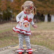 New Christmas Clothing set kids wear clothing sets boutique girl pajamas