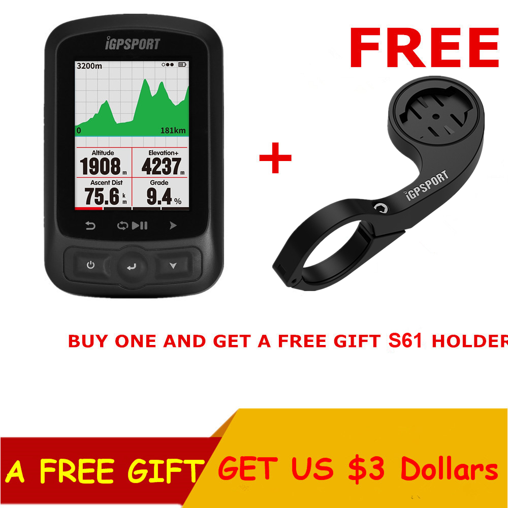 IGPSPORT ANT GPS IGS618 Bike Bicycle Wireless Stopwatch Speedometer Waterproof IPX7 Cycling Bike Speedometer Computer