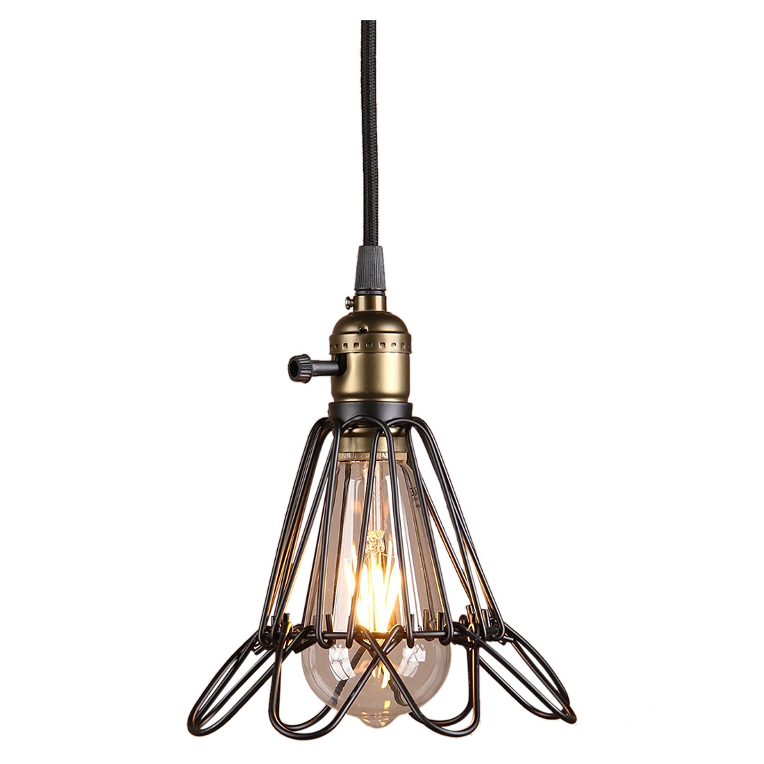 Chic Stylish Vintage Opening and Closing Birdcage Hanging Light Ceiling Pedant Light Fixture Fitting