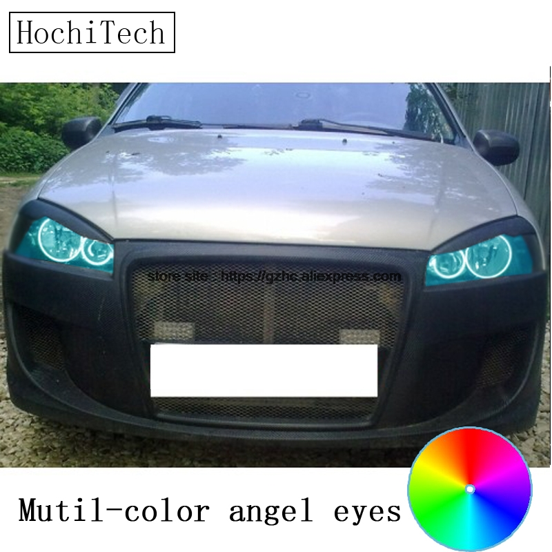 HochiTech for Lada Kalina 1119 1118 1117 119 117 2005-2013 car styling RGB LED Demon Angel Eyes Kit Halo Ring Day Light hochitech for mazda cx 7 cx 7 2006 2012 car styling rgb led demon angel eyes kit halo ring day light drl with a remote control