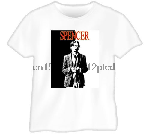 Spencer Reid Criminal Minds Detective Tv White T Shirt-in