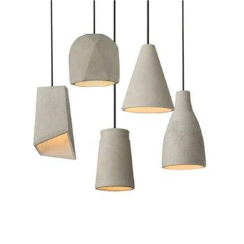 Nordic Designer Cement LED Pendant Lights Modern Dining Room Hanging Lamps Living Room Bedside Bedroom Decor Lighting Luminaire