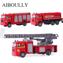 2017 Car styling Fire truck Red 11*5*3.5cm Telescopic staircase 115g Nendoroid Alloy plastic 3StyleTruck model kids fidget toys