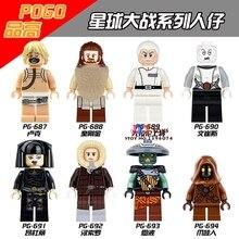 80pcs starwars superhero Luke Skywalker Han Solo Jawa Embo building blocks bricks friends for house children toys iluminador