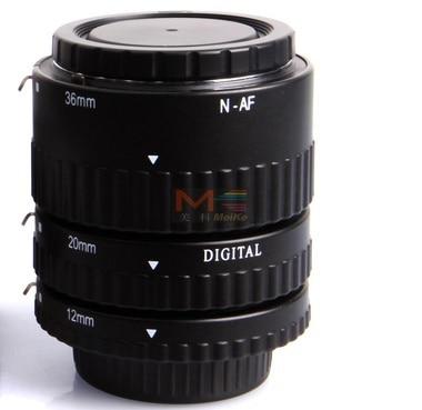 Meike MK-N-AF-B, Meike MK-N-AF-B mise au point automatique AF Macro Extension Tube Set mise au point automatique pour appareil photo Nikon D-SLR - 2