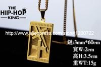 Men's Cross Stainless Steel Pendant Necklace Gold Color Iced Out Crucifix Jesus Hip Hop Necklace Wholesale Trendy Jewelry