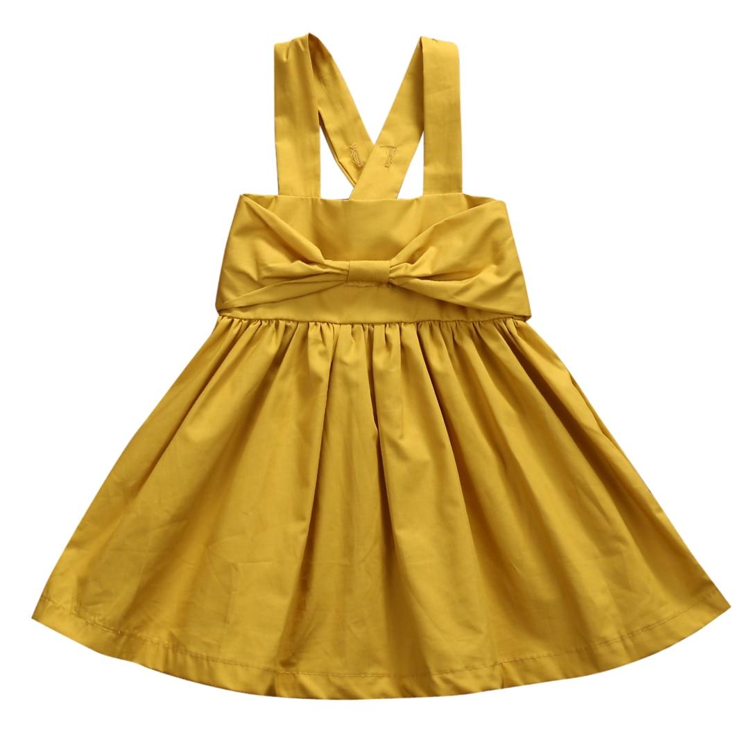 Summer 2017 Baby Girls Dress Toddler Kid Summer Sundress Bowknot Mini Bow Dress Outfit Sunsuit Dress 0-18M