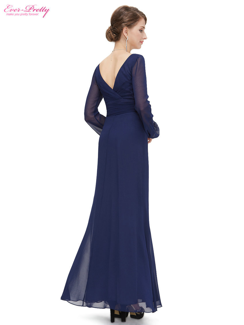 Formal Elegant Winter Long Sleeve Evening Dresses Clearance sale ...