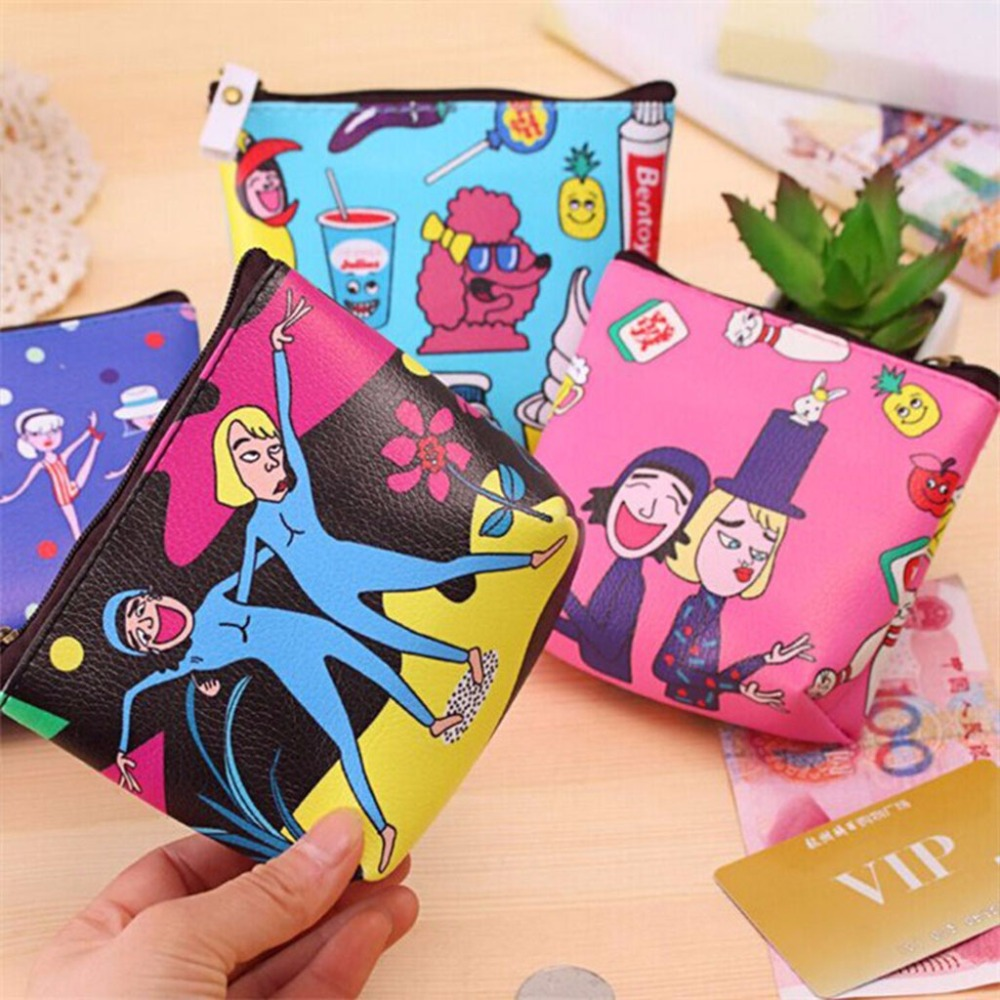 THINKTHENDO New Women Coin Purse Mini Wallet Money Bag Pouch Female Girl Key Holder Change Purse Portable 4 Color