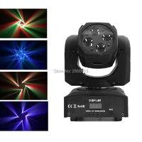 Мини 4X10 Вт супер перемещения луча фары RGBW 4in1 60 Вт высокое Яркость светодио дный луч этап световые эффекты хорошо для диско DJ оборудование