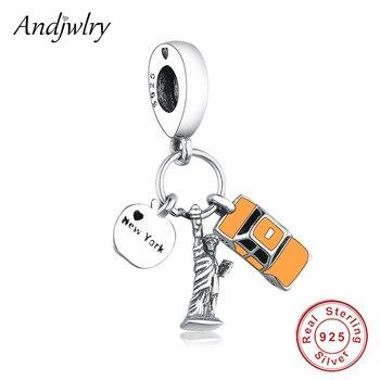 d677c17de98 Ajuste Original Pandora Charms pulsera Real de plata de ley 925 ...