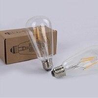 Led filament light bulb 2018 explosion models LED candle bulb E14/E27 screw Edison retro retro glass dimming bulb light