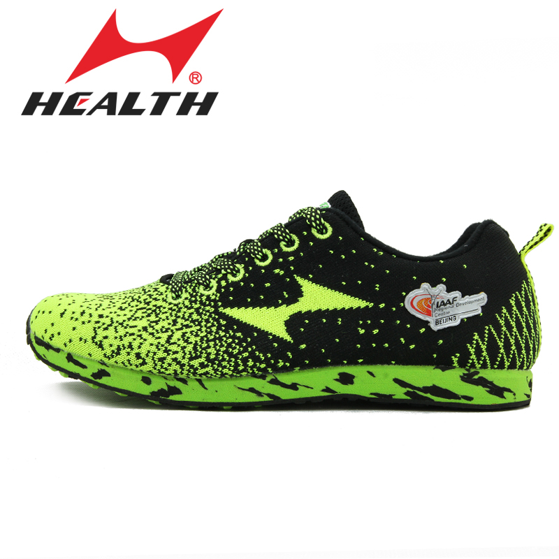 Health Athletic training trail sports running shoes line knitted slip-resistant breathable marathon sports shoes sneakers adult