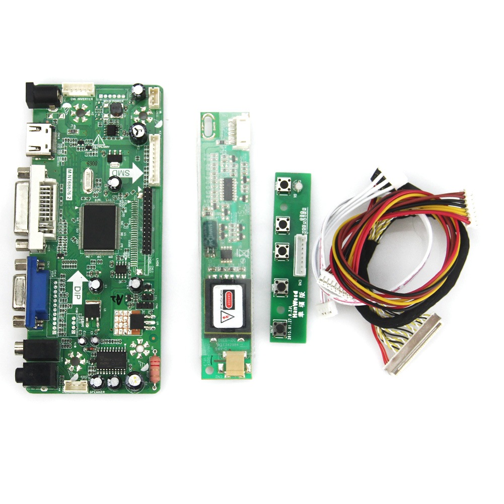 M.NT68676 LCD/LED Controller Driver Board(HDMI+VGA+DVI+Audio) For N156B3-L0B LP156WH1(TL/A3) 1366*768 LVDS Monitor Reuse Laptop m nt68676 lcd led controller driver board for b116xw01 v 0 hdmi vga dvi audio 1366 768 pc