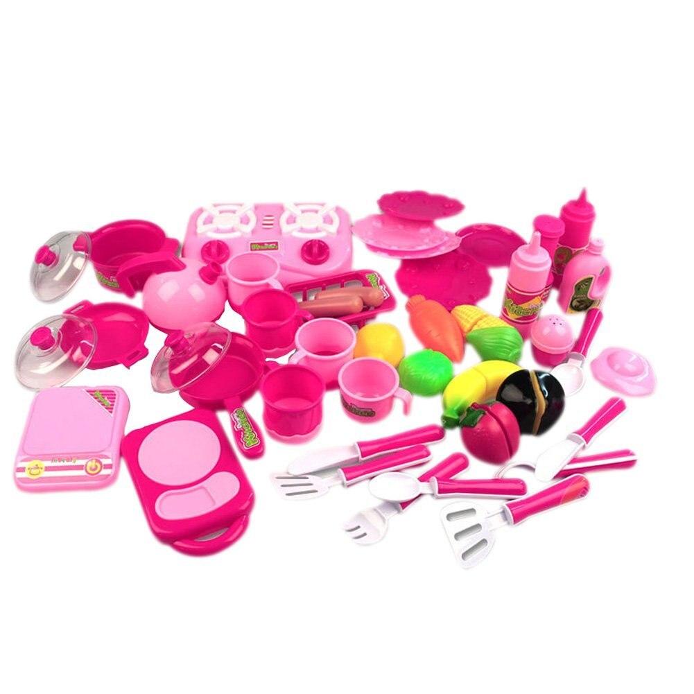 40 шт./компл. Кухня Еда Пособия по кулинарии ролевая игра притворяться игрушка для мальч ...