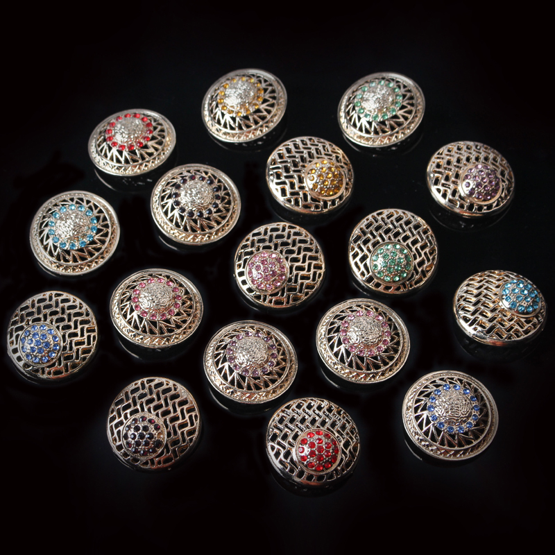 5pcs Hollow Carved Metal Buttons Sewing Scrapbook For Jacket Blazer Sweaters Crafts DIY Sewing Accessories Clothing