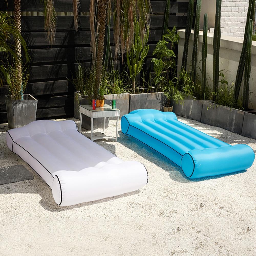 Lit flottant eau hamac natation lit flottant 441lb capacité pour adultes enfants avec sac de transport Compact chaise longue de plage